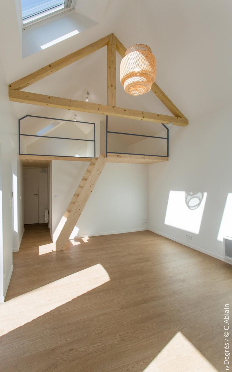 Mezzanine Suspendue. Good Rnovation Parue Dans Maison Part With ...