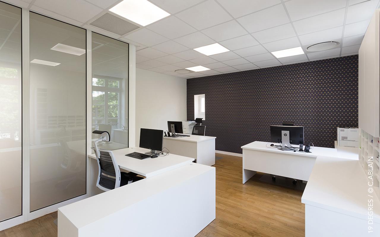 Rénovation de bureaux degrés